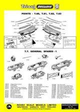 Buy Triang Tri-ang No.016 Points T60 T61 T62 T63 and T.T. General Spares 1 Service S