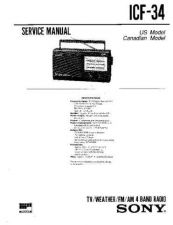 Buy Sony ICF-34 Service Manual. by download Mauritron #241496