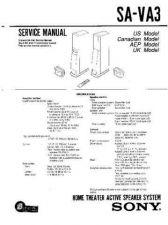 Buy Sony SA-VA15 Technical Manual. by download Mauritron #243724