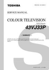 Buy TOSHIBA 43VJ33P SERVICE Manual by download Mauritron #230523