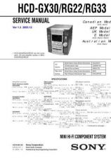 Buy Sony MHC-GX30RG22RG33. Technical Information by download Mauritron #235767
