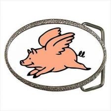 Buy When Pigs Fly Flying Pig Hog Pork Unisex Belt Buckle