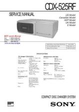 Buy SONY CDX525RF-cd Technical Info by download #104673