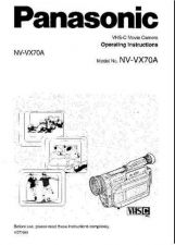 Buy Panasonic NVVX70A Operating Instruction Book by download Mauritron #236315