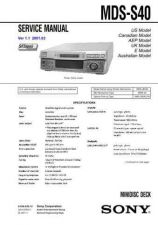 Buy Sony MDS-S39 service manual Technical Manual. by download Mauritron #242722