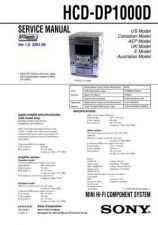 Buy Sony HCD-DP1000D Service Information by download Mauritron #237813