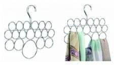 Buy Tie Scarf Hanger Rack Holder Organizer Steel Chrome Pair (2) InterDesign Axis