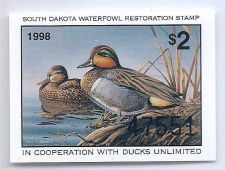 Buy SD16 1998 SOUTH DAKOTA STATE DUCK STAMP, FREE SHIPPING!