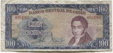 Buy 1962 Banco Central de Chile Cien Escudos 100 Series C-3 President Rengifo