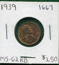 "Buy 1939 ""P"" BU, Lincoln Wheat Penny"