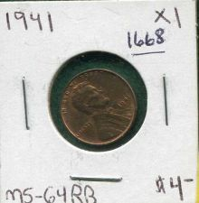 "Buy 1941 ""P"" , BU, Lincoln Wheat Cent"