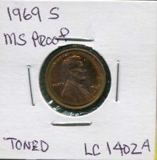 "Buy 1969 ""S"" , Gem Proof , Lincoln memorial Penny"