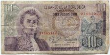 Buy 1979 El Banco de la Republica Colombia 10 Pesos Oro Used Circulated