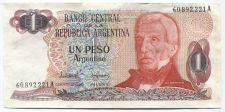 Buy 1983 El Banco Central de la Republica Argentina 1 Un Peso Uncirculated VF Ser A