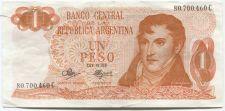 Buy 1970 El Banco Central de la Republica Argentina 1 Un Peso Ley Uncirculated VF