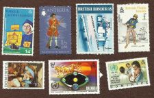 Buy British Collection of 7 Stamps Caicos Islands,Honduras, Virgin Islands Dominica