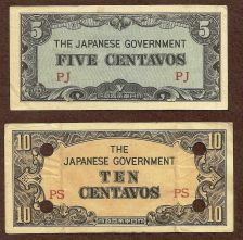 Buy Invasion Money Small Japan Note 5 Centavo PJ & 10 Centavo PS Note WWII Historic!