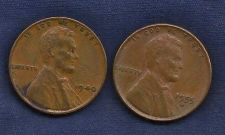 Buy US Wheat Set Two Pennies 1940 (WWII Era), 1955D -Fill in the gaps in your collection!