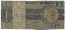 Buy 1970 Banco Central do Brasil 1 Um Cruzeiro Used Circulated A00592 048683