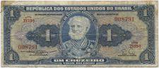 Buy 1954-8 Republica Dos Estados Brasil 1 Um Cruzeiro Nice Circulated Serie 2119A