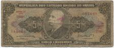 Buy 1964 Republica Brasil 5 Cinco Cruzeiros Used Circulated Serie 2740