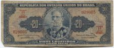Buy 1963 Republica Dos Estados Brasil 20 Vinte Cruzeiros Nice Circulated 029005