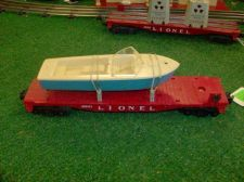 Buy LIONEL POST WAR 6801 FLAT WITH BLUE BOAT ALL ORIGINAL EXCELLERNT CONDITION