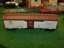 Buy LIONEL POST WAR 6672 SANTA FE ROUTE OF THE CHIEF REEFER BLUE LETTERS