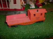 Buy LIONEL POST WAR 6119 25 DL&W ORANGE WORK CABOOSEL ORIGINAL EXCELLENT CONDITIO