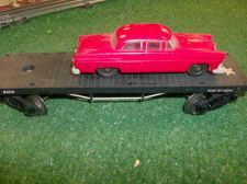 Buy LIONEL POST WAR 6404 FLAT WITH RED GRAY BUMPERED AUTO ALL ORIG VERY NICE