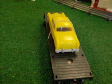 Buy LIONEL POST WAR 6404 FLAT WITH YELLOW GRAY BUMPERED AUTO ALL ORIG VERY NICE