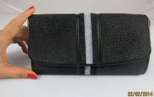 Buy 100% Real stingray fish leather men's and women's wallet