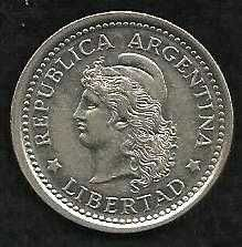 Buy Argentina 1 Peso 1958 Capped Liberty Head Coin