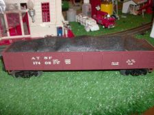 "Buy LIONEL TRAINS MODERN ERA 17402 SANTA FE GONDOLA WITH COAL LOAD STD ""O"" NICE"