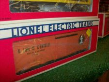 "Buy LIONEL TRAIN 6232 ILLINOIS CENTRAL BOX CAR STD ""O"" ALL ORIGINAL SHARP GRAPHI"