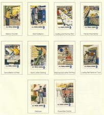 Buy 1973 USA STAMPS POSTAL WORKERS Complete set of 10 #1489-98