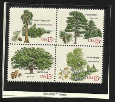 Buy US American Trees 1978 SC#1764-1767 - BLOCK OF 4 in high quality mount