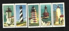 Buy US Lighthouses 1990 Scott's 2470-2474 Block of Five (5) Lighthouse Multicolored
