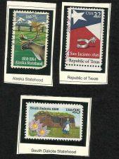 Buy US STATEHOOD STAMPS 1984 Alaska 1986 Texas 1989 South Dakota in Quality Mounts