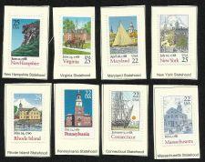 Buy 8 US Statehood Stamps New Hampshire Virginia Maryland New York Rhode Island Conn