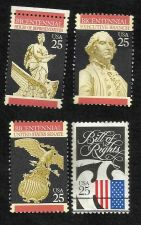 Buy US 1989-90 Bicentennial Stamps Senate, House of Rep Exec Branch & Bill of Rights