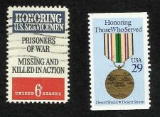 Buy US 1990 Desert Shield and Disabled Veterans Stamps