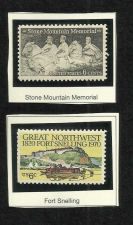 Buy Two unused US 1970 Fort Snelling & Stone Mountain Memorial Stamps