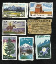 Buy Set of 7 US Statehood Postage Stamps