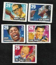 Buy US MUSIC LEGENDS 5 Unused Stamps 1993 Elvis Presley, Otis Redding and more!