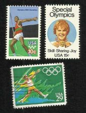 Buy Three US Stamps 1979 & 1991 Javelin Thrower, 1979 Special Olympics