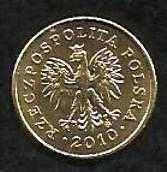 Buy POLAND POLISH Y276 2010 Unc Mint New 1 Grosz COIN