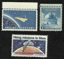 Buy US SPACE EXPLORATION: Viking Mars Missions, Project Mercury, Palomar Observatory