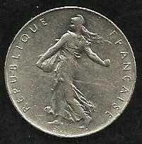Buy French Coins, Vth Republic, 5 Francs Semeuse , 1975