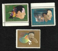 Buy US Stamps American Arts - Robinson Jeffers, Henry Tanner & George Gershwin